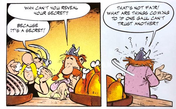 """In """"Asterix the Gaul"""", a Roman spy guilt trips Asterix and Obelix into some Magic Potion"""