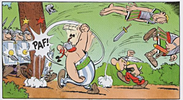 Asterix and the Goths, where Obelix still finds Romans to punch