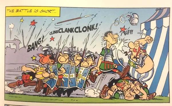 Asterix and Obelix fight gladiators next week