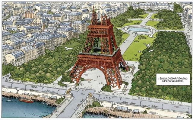 In The Mermaid Project, Paris has some issues, and the Eiffel Tower is half in ruins