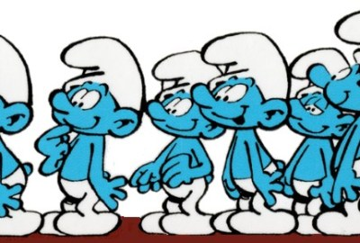 Smurf hats in a group