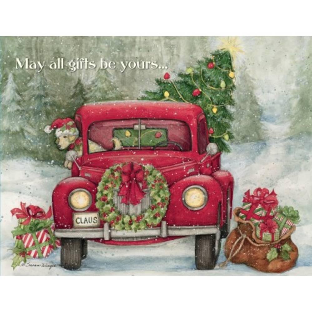 Santas Truck Boxed Christmas Cards Piper Classics