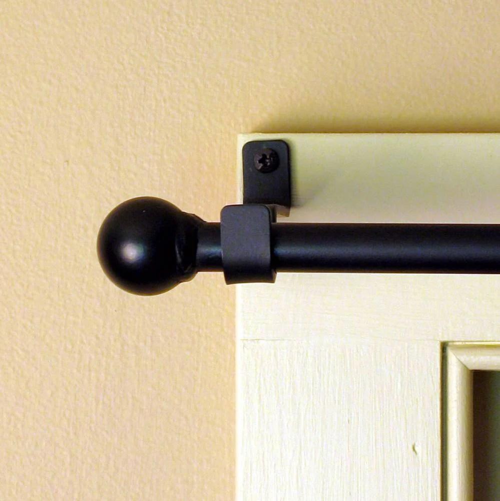 ball wrought iron curtain rod w hardware lg