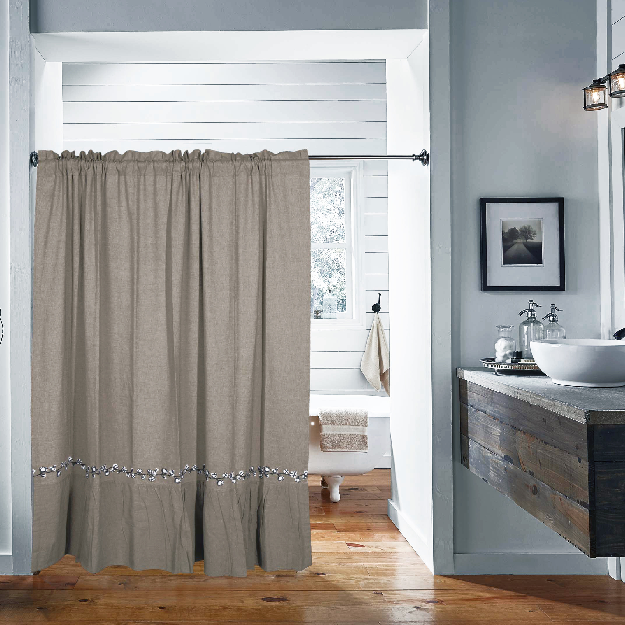 Modern Style Shower Curtain Rod