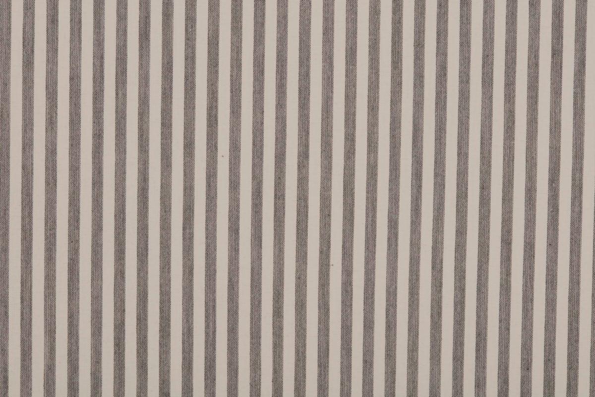 Farmhouse Ticking Gray Lined Valance Panels
