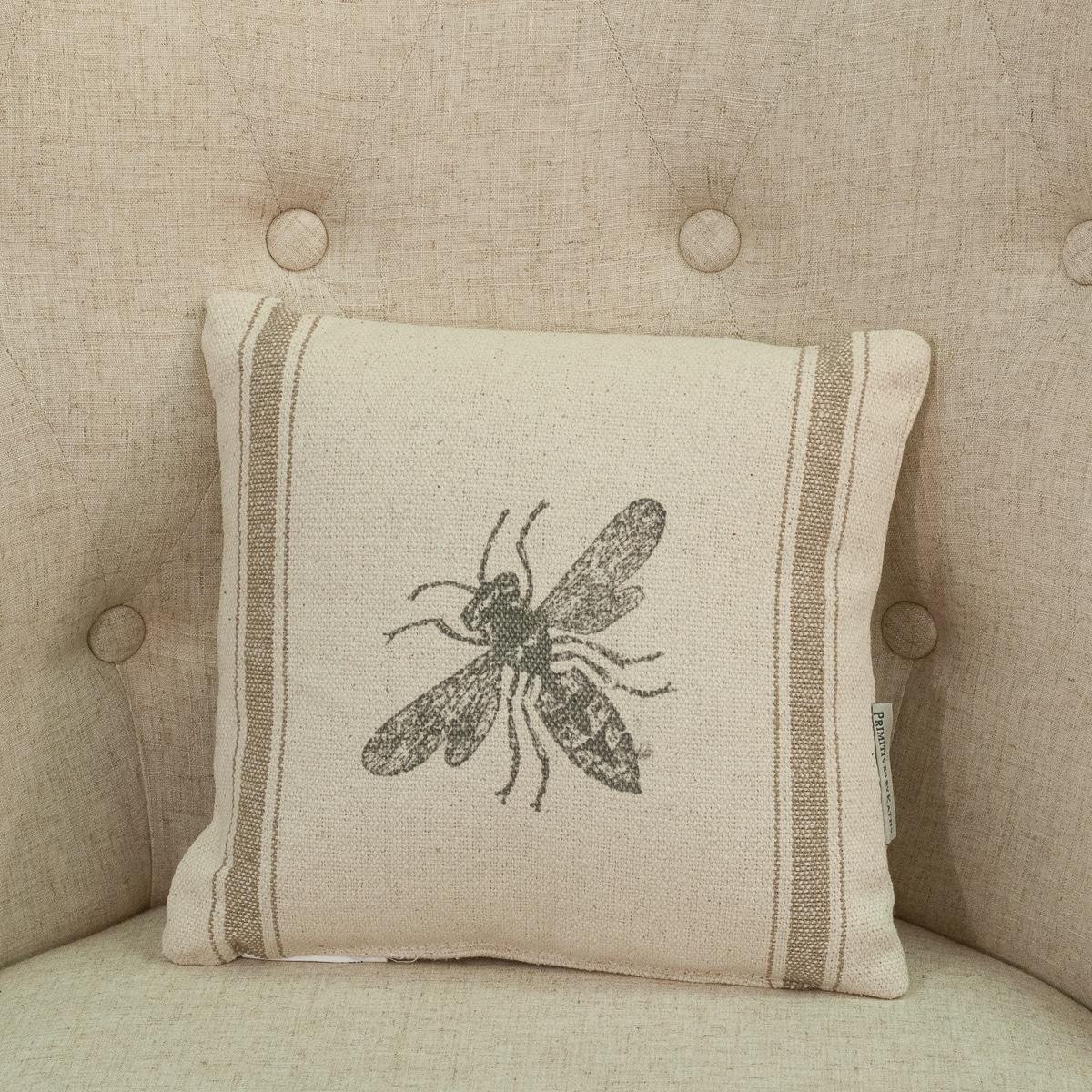 bumblebee 10 x 10 pillow