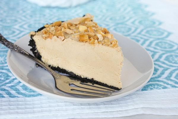 creamy peanut butter pie with chocolate cookie crumb recipe