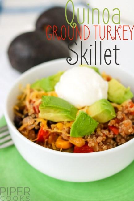 Quinoa Ground Turkey Skillet - PiperCooks.com