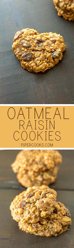 Oatmeal Raisin Cookies - PiperCooks.com