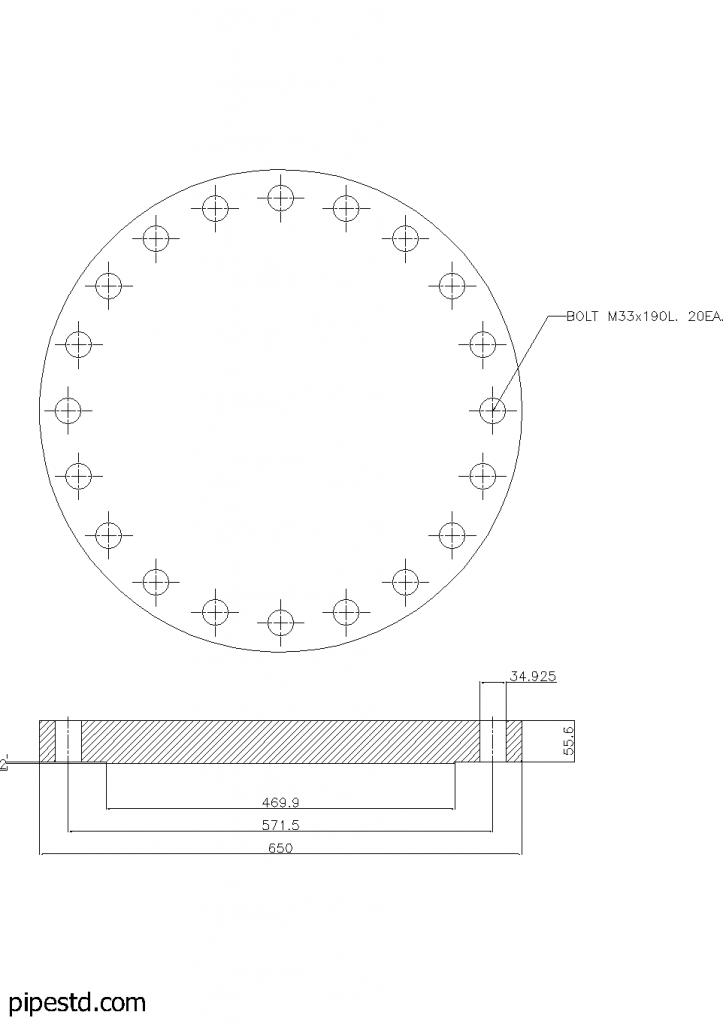 Blind Flange 16 Inch Class 300