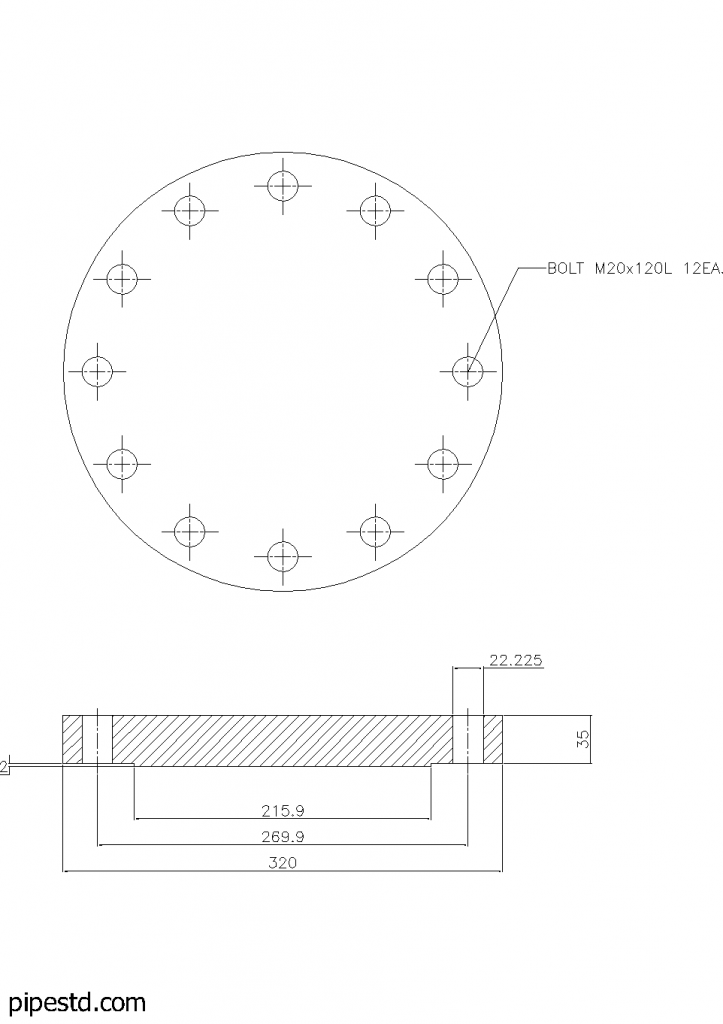 Blind Flange 6 Inch Class 300