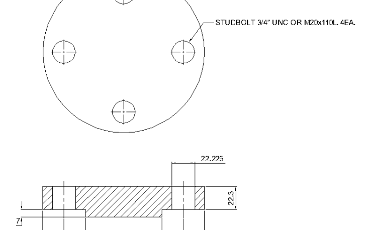 Blind Flange 1 1/2 Inch Class 400