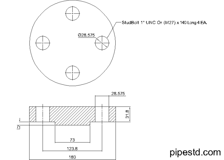 Blind Flange 1 1/2 Inch Class 900