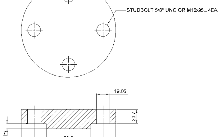 Blind Flange 1 1/4 Inch Class 400
