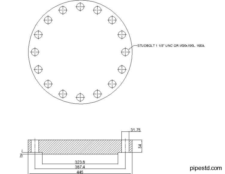 Blind Flange 10 Inch Class 400
