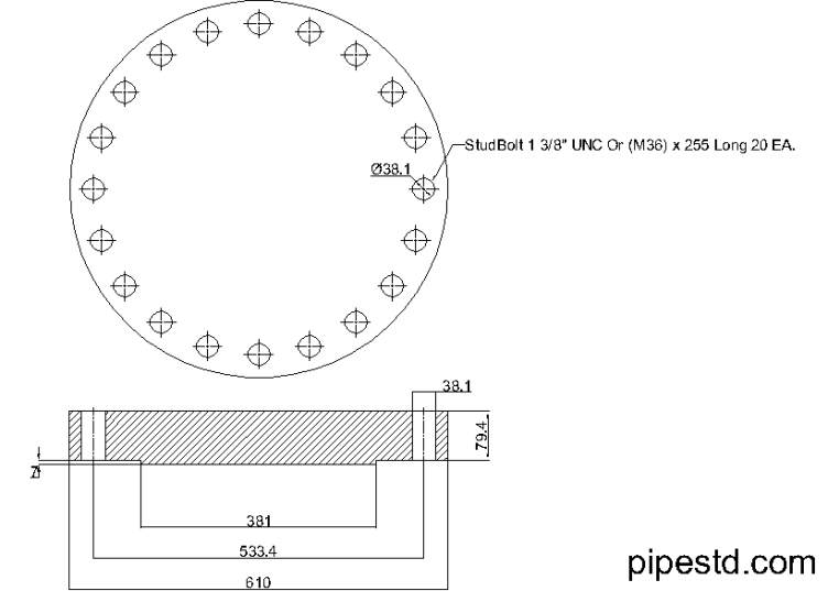 Blind Flange 12 Inch Class 900