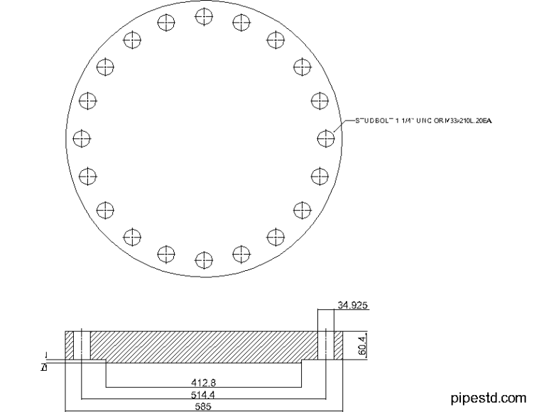 Blind Flange 14 Inch Class 400