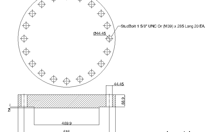 Blind Flange 16 Inch Class 900