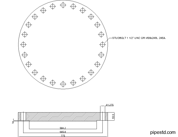 Blind Flange 20 Inch Class 400