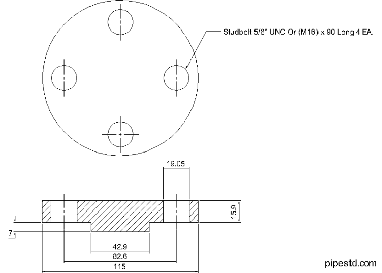 Blind Flange 3/4 Inch Class 600