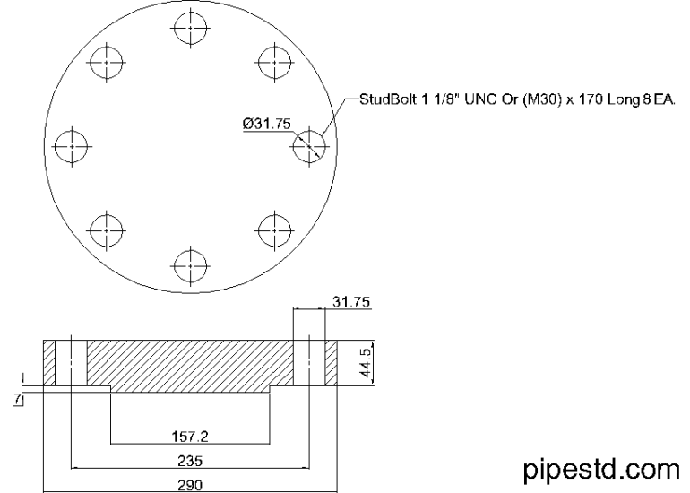 Blind Flange 4 Inch Class 900