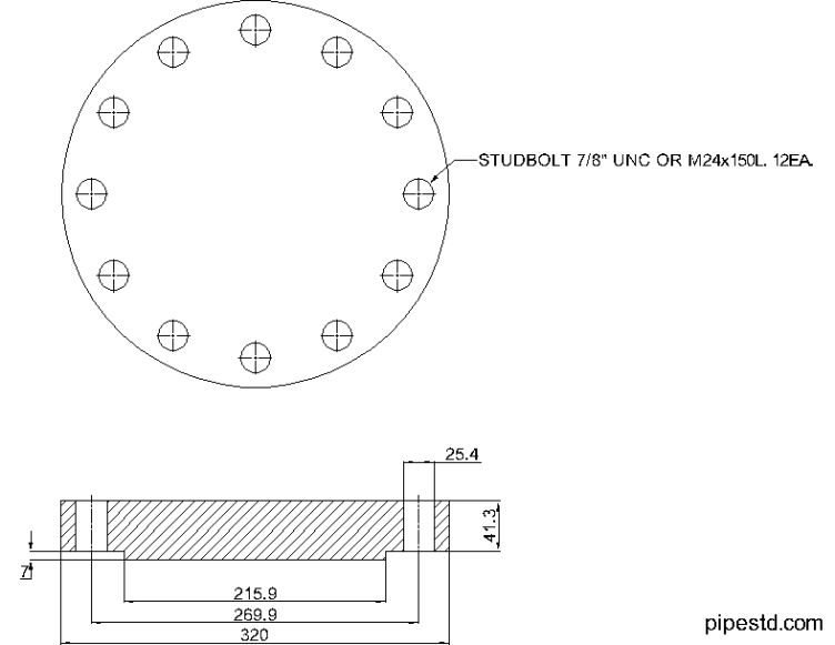 Blind Flange 6 Inch Class 400