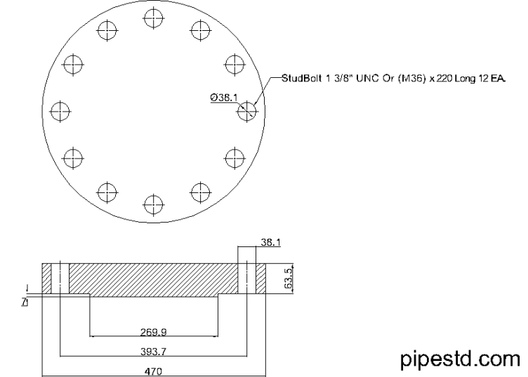 Blind Flange 8 Inch Class 900