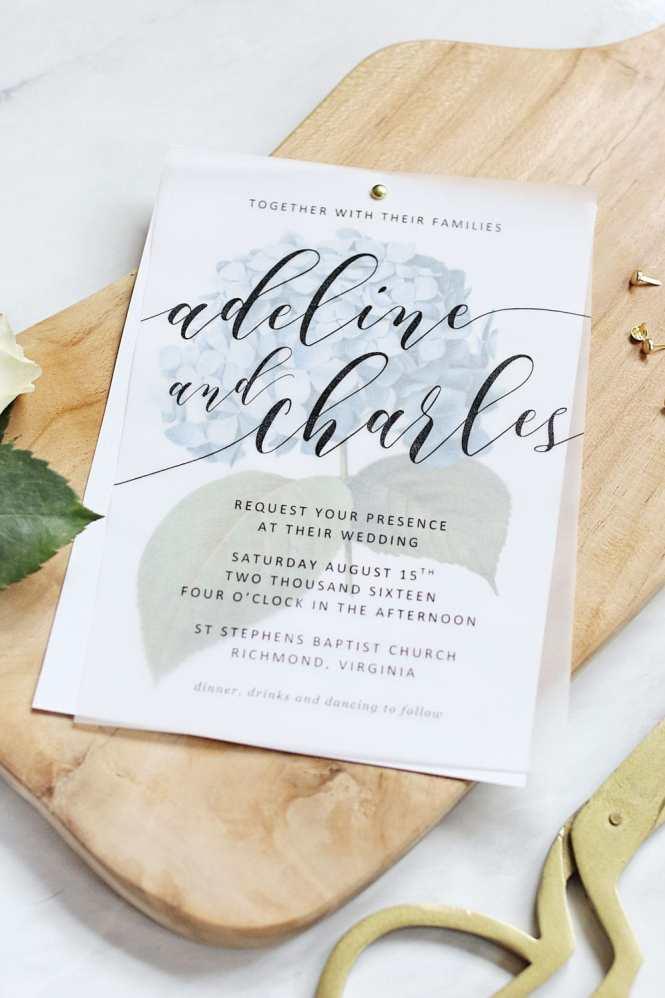Diy Translucent Wedding Invitation With Vintage Rose Background Print
