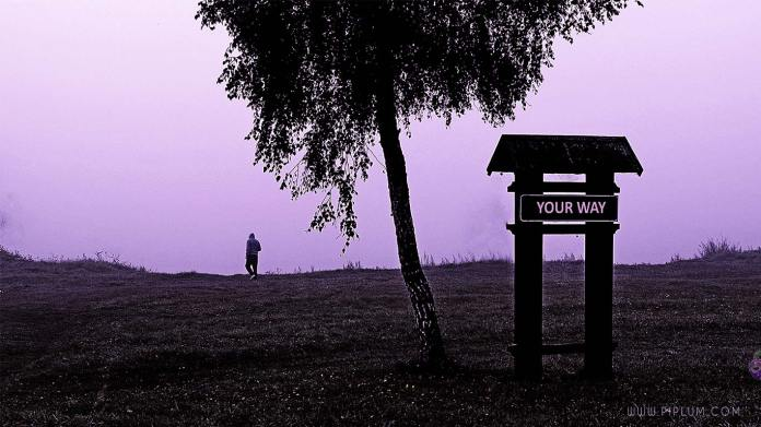 Your-way-Man-walking-in-the-mist-by-the-lake-Motivational-quote