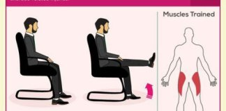 5-minute-office-workout. Infographic
