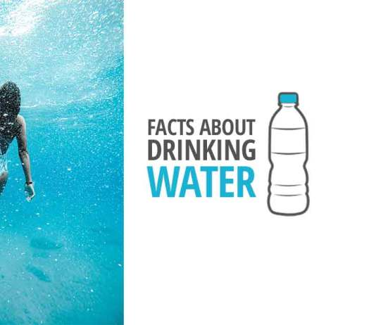 Women under the water. facts-about-drinking-water
