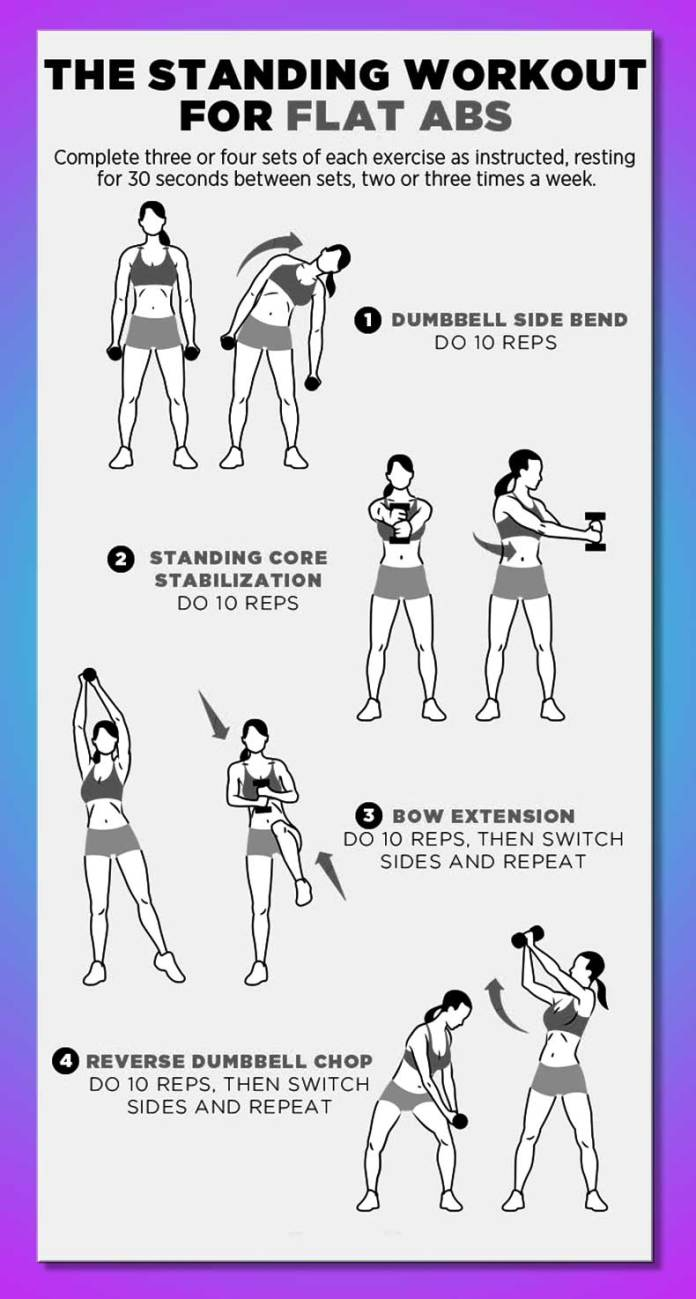 standing-position-workout-abs-women-mom