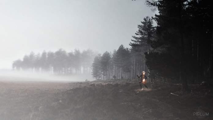 monsters-in-palanga-photo-manipulation-surreal-world-forest-mist-fog-run-lantern