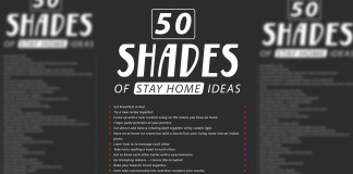 50 shades of stay at home ideas. Cover.