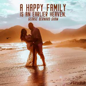 inspirational-Family Quote. Just married couple kissing in the beach during sunset.