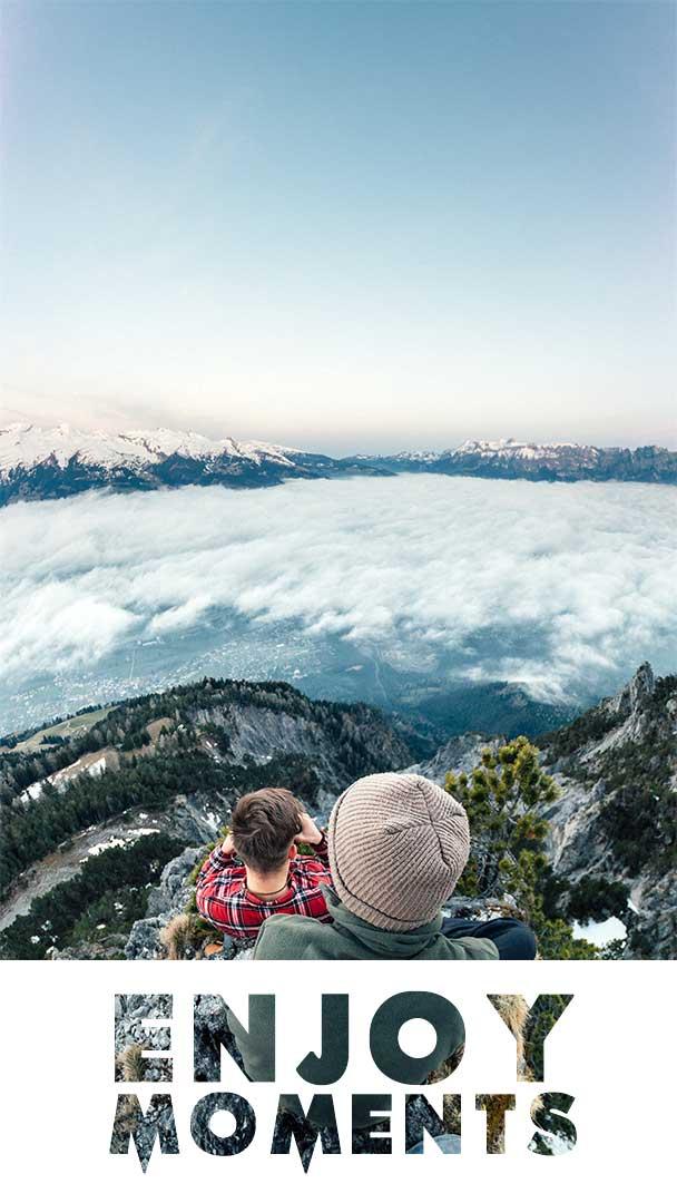 Enjoy-moments-motivational-life-quote-mountain-peak-friends