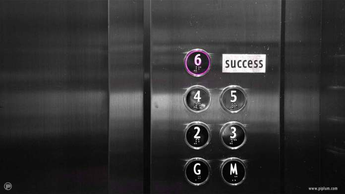 The-is-no-elevator-to-success-inspirational-quote-black