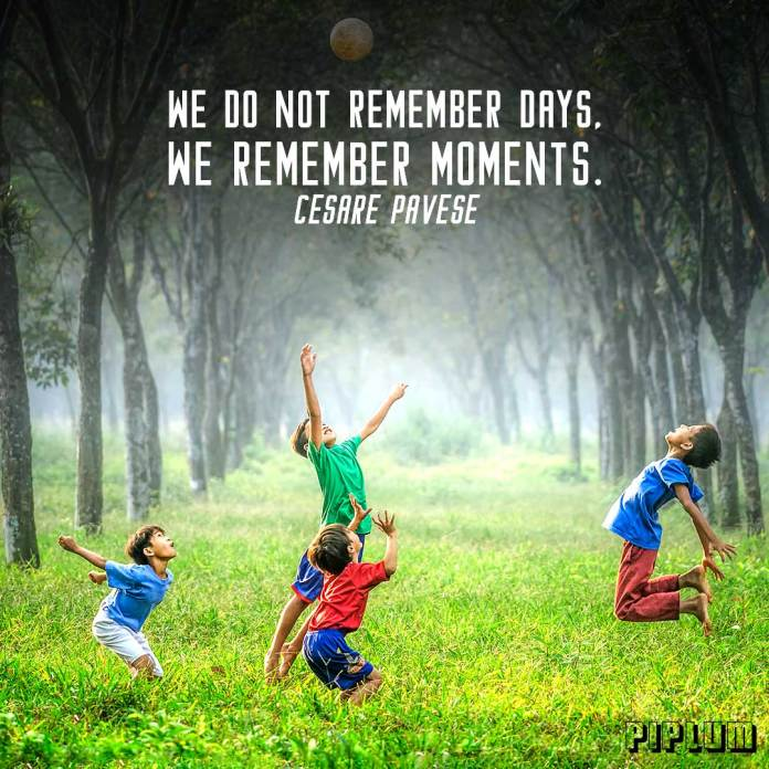 Life quote. Kids playing in the grass
