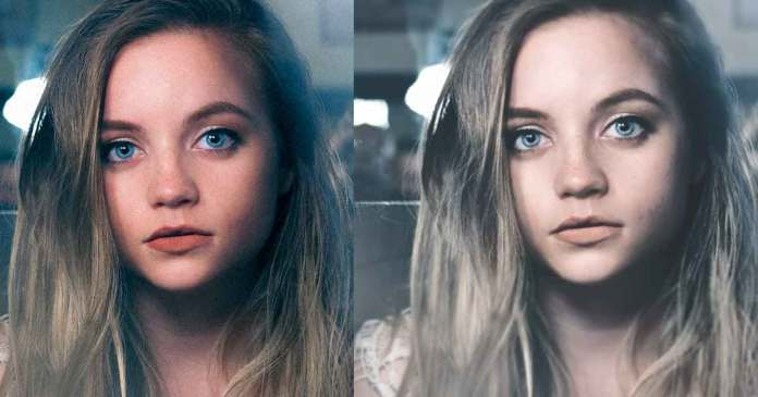 Girl face before and after editing with photoshop. Selfie tutorial. Best selfie app. face retouching