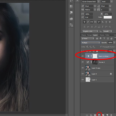 Black and white mode. How to edit selfie like a pro. Tutorial.