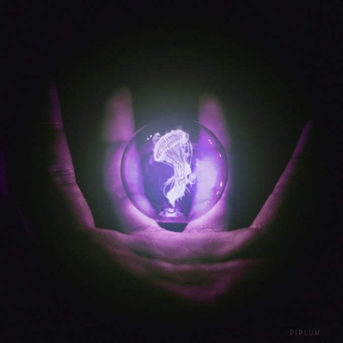 wake up the Creator purple jellyfish photomanipulation