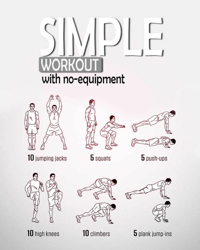 Simple-workout-with-no-equipment-Poster