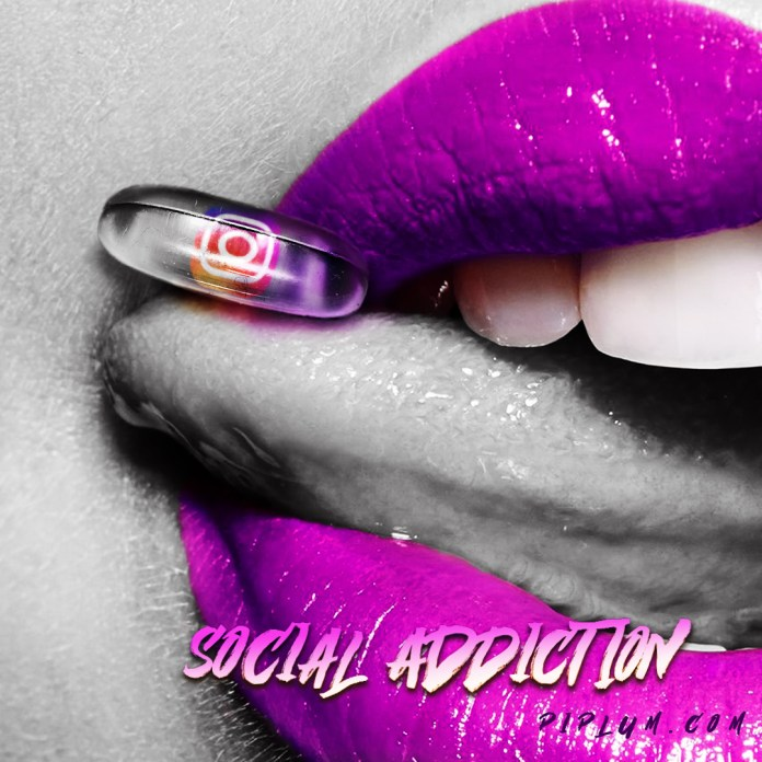 Social-addiction-quote-Instagram-pill-on-the-purple-lips-Piplum-photo-manipulation-art