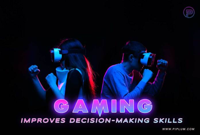 Couple playing virtual reality game. Inspirational quote