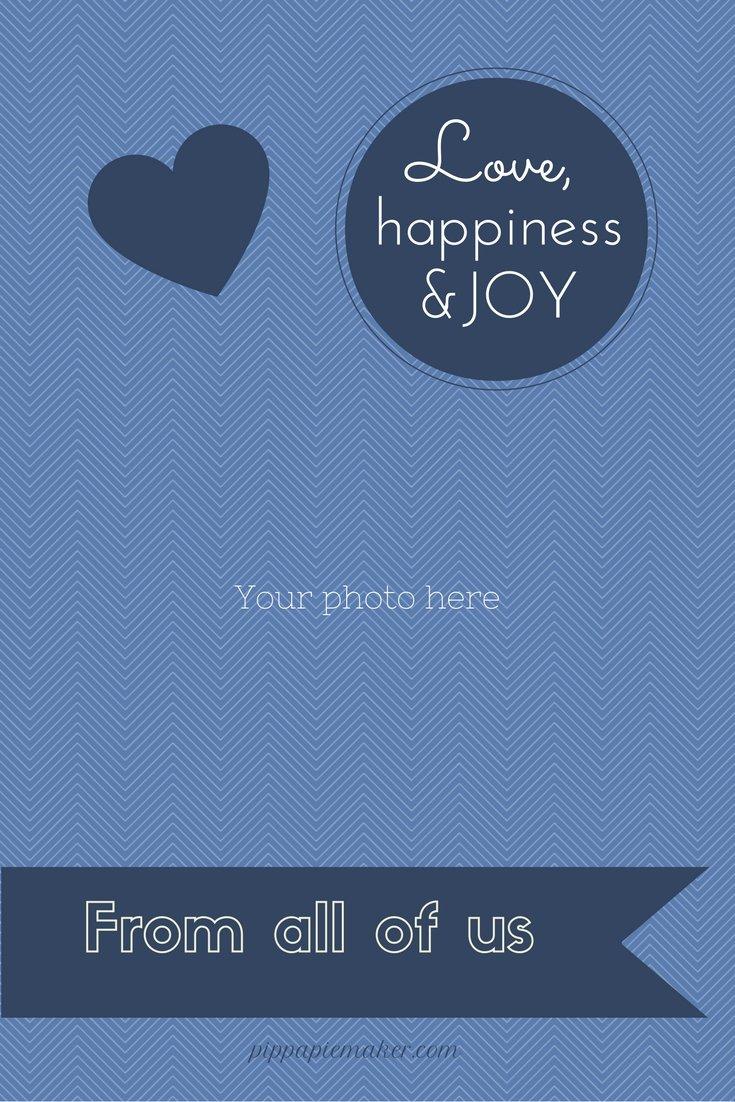 Free Printable Christmas Card by pippapiemaker.com