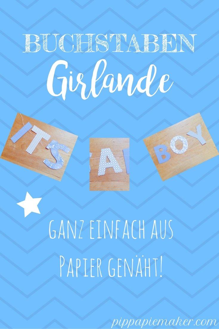 Buchstaben Girlande by pippapiemaker.com