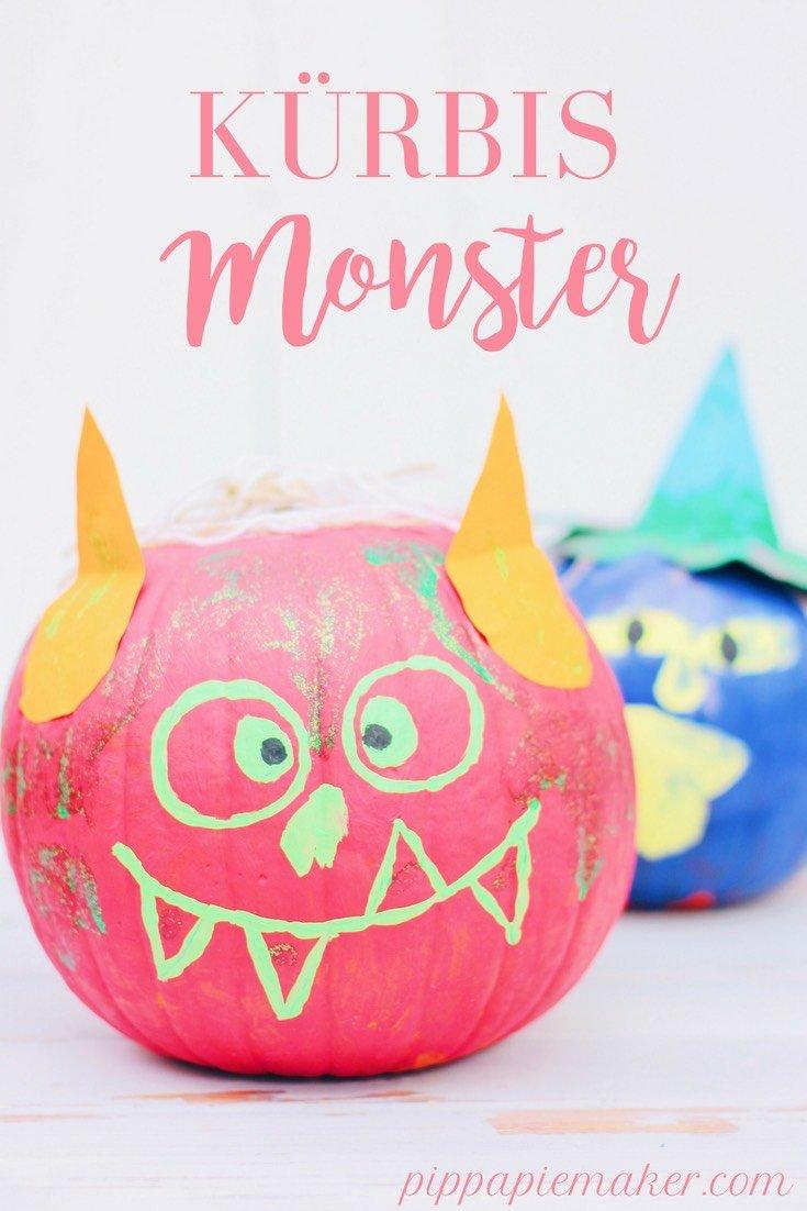Kürbis bemalen ist mein liebstes DIY in diesem Herbst! Es geht super schnell, ist total einfach und funktioniert auch prima zum Basteln mit Kindern im Herbst! Ich mache schicke herbtliche Tischdeko in pastell und gold Tönen und die Kinder malen lustige Monster Kürbisse als Halloween Deko!
