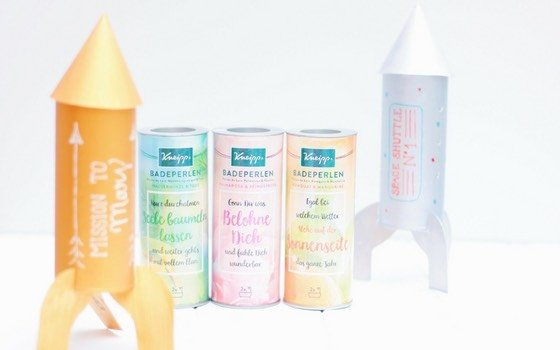 (Anzeige) DIY Raketen Nachtlicht mit Badeperlen von Kneipp®
