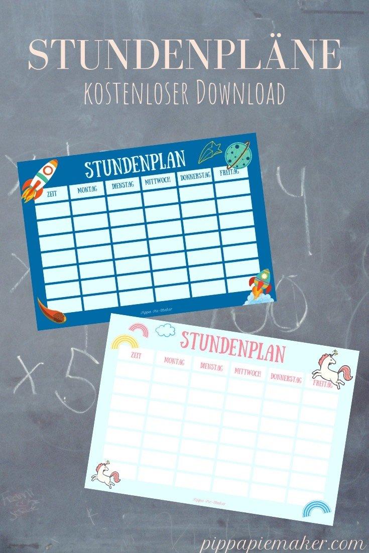 Was kommt in die Zuckertüte? 12 Ideen zum Schultüte füllen und zwei gratis Stundenpläne. Stundenplan kostenlos downloaden und ausdrucken!
