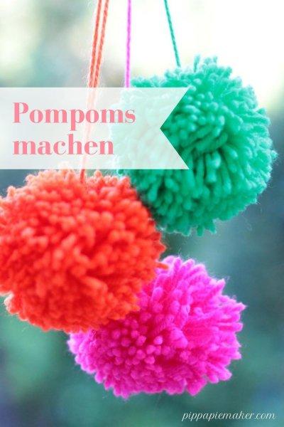 Pompoms selber machen ist ein super schönes Sommer DIY mit Kindern! Und so eine Pompom Girlande verschönert garantiert jede Gartenparty oder jedes Kinderzimmer!